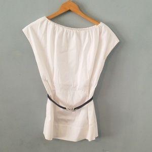 Etcetera white sleeveless top